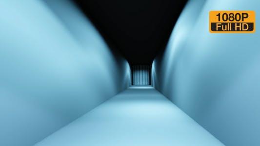 Walking Man in Blue Room