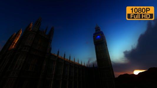 Big Ben Clock Tower Time-lapse Sky