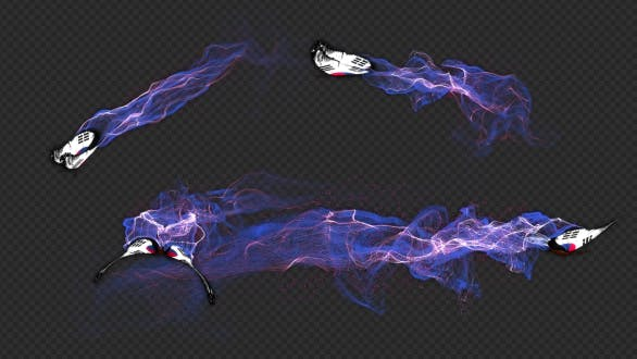 Korea South Flag Butterfly Gorgeous Particle Light Trailing Flying V2