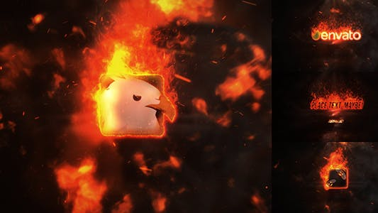 Thumbnail for Exploding Burning Logo Reveal