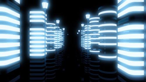 City Night Neon Tunnel