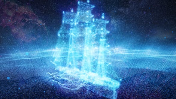 Thumbnail for The Particle Ship Sails In The Galaxy Nebula