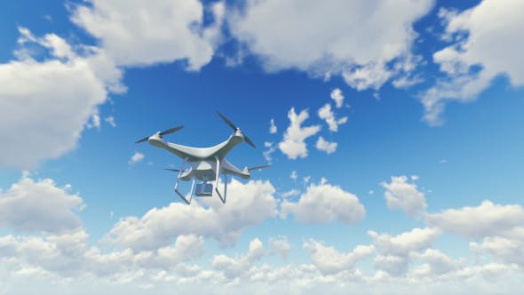 Thumbnail for Quadcopter Drone - Cloudy Sky