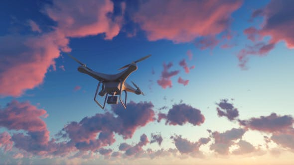 Cover Image for Quadcopter Drone - Sunset