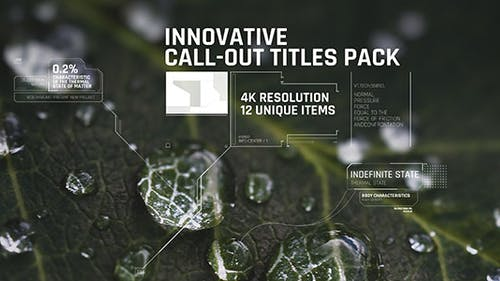 Innovative Call-out Titles pack/ Sci-fi/ Technology/ Line Interface/ Digital/ Simple Placeholders