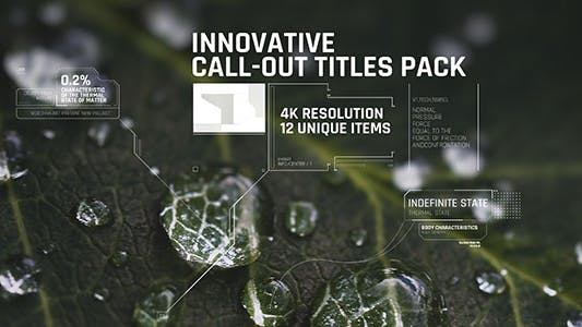 Thumbnail for Innovative Call-out Titles pack/ Sci-fi/ Technology/ Line Interface/ Digital/ Simple Placeholders