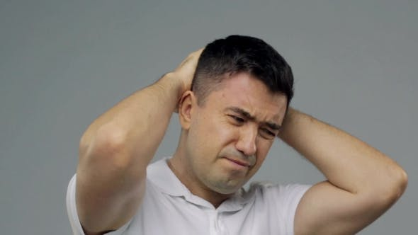 Thumbnail for Unhappy Man Suffering From Head Ache 18