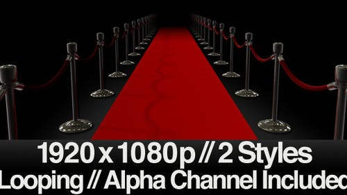 Red Carpet Walk - Series of 2 Looping + Alpha