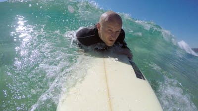 The Surfer in the Ocean