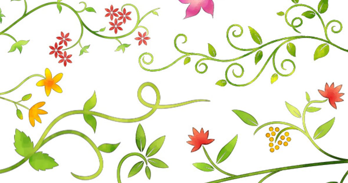 6 Floral Ornamental Animations - Water Color Style