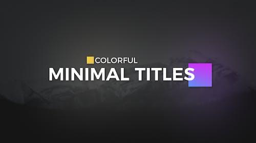 Color full Minimal Titles