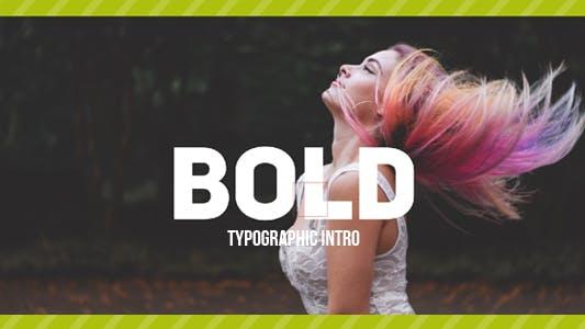 Thumbnail for Bold Typo -Typographic Intro