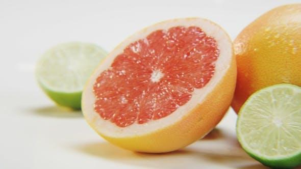 Thumbnail for Citrus Fruits on White Background