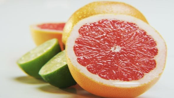 Thumbnail for Citrus Fruits on White Background
