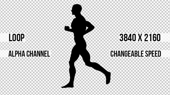 Running Man Alpha Channel