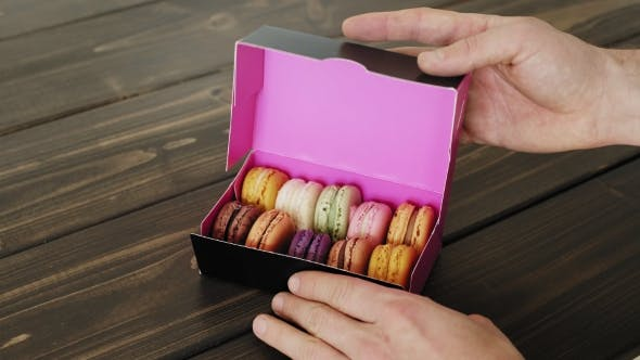 Thumbnail for Macarons Presented Inside the Gift Box