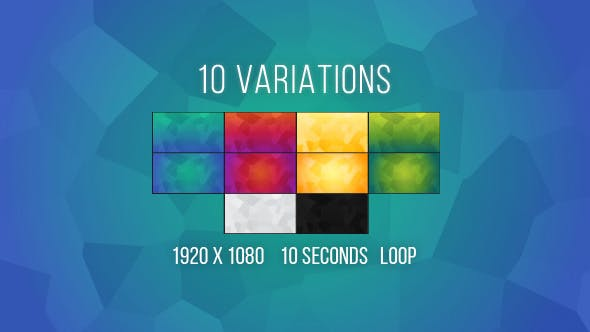 Thumbnail for Vibrant Polygonal Backgrounds - 10 Variations