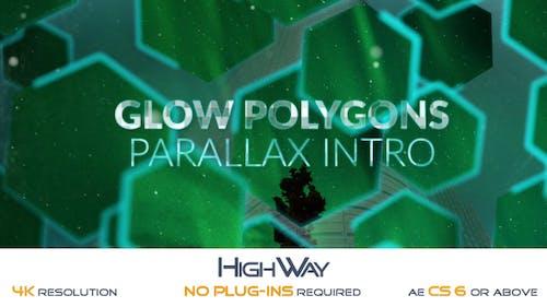 Glow Polygons Parallax Intro