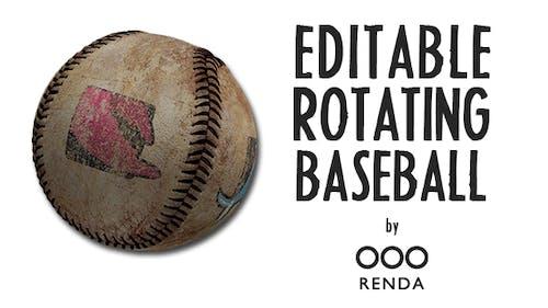 Editable Rotating Baseball