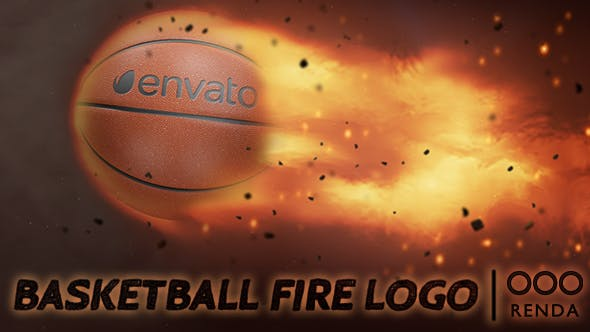 Thumbnail for Basketball Fire Logo