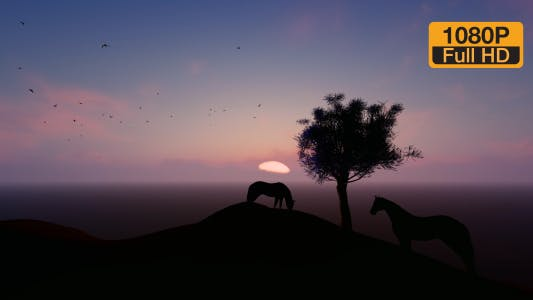 Thumbnail for Time-lapse Mountain and Horse