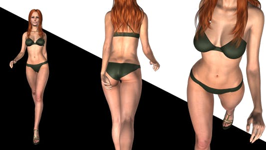 Thumbnail for Bikini Girl - Walk Cycle - Prima Vera - Pack of 5