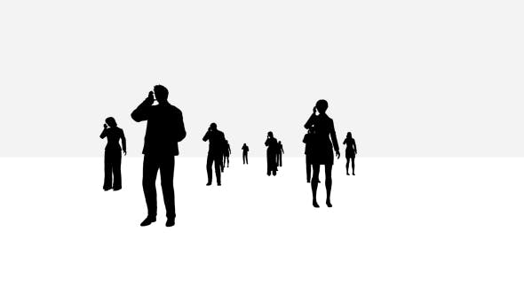 Thumbnail for Business People Silhouette Bright Background