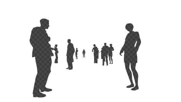 Thumbnail for Business People Silhouettes Background