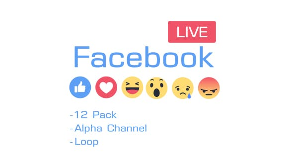 Facebook Like Reactions 12 Pack