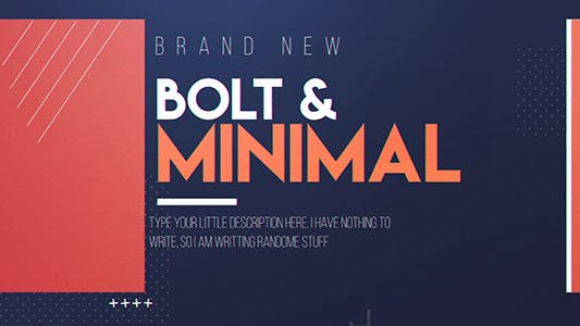 Thumbnail for Bolt & Minimal