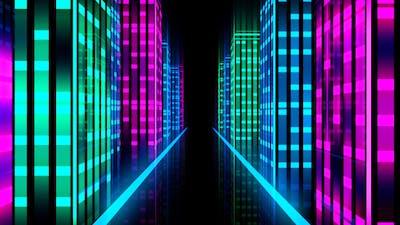 City Virtual Glowing