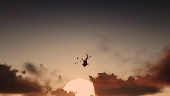 Thumbnail for Military Helicopter - Sunset