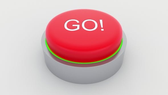 Thumbnail for Big Red Button with Go Inscription Being Pushed