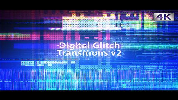 Cover Image for Digital Glitch Transitions v2 - 4K