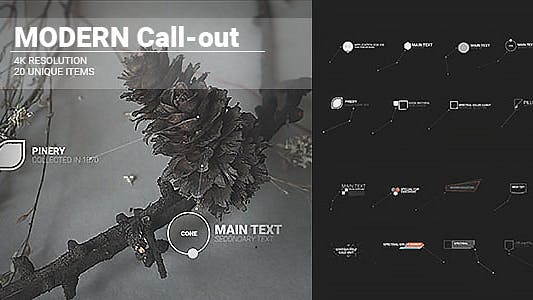 Thumbnail for Modern HUD Call-outs/ UI Placeholders Digital Interface Placeholders/ Futuristic Simple elements
