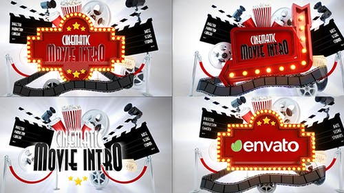 Cinematic Movie Logo Reveal bundle