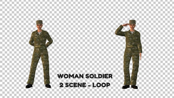 Thumbnail for Woman Soldier - 2 Scene