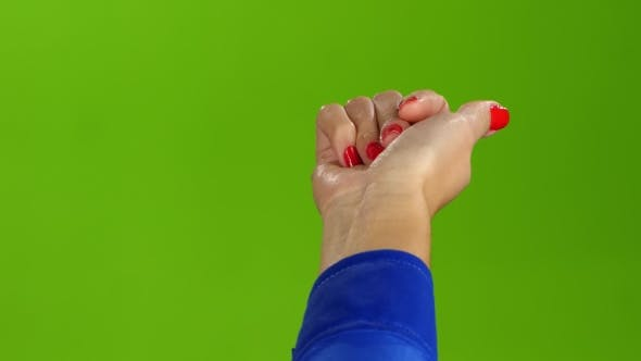 Thumbnail for Gesture of the Right Hand Come To Me. Green Screen