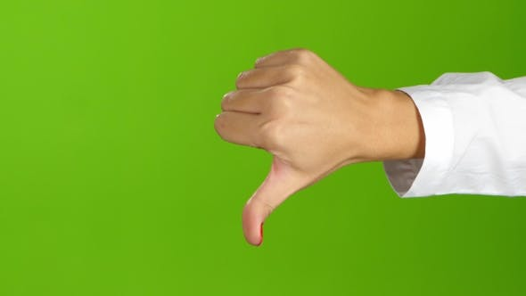Thumbnail for Woman Hand, Sign Language. Thumb Down and Then Thumb Up