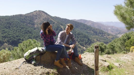 Thumbnail for Loving Couple on Rest in Mountains