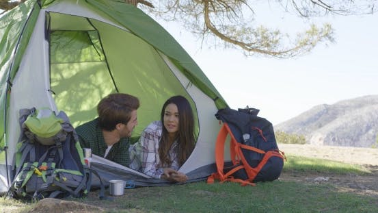 Thumbnail for Young Couple Lying in Tent