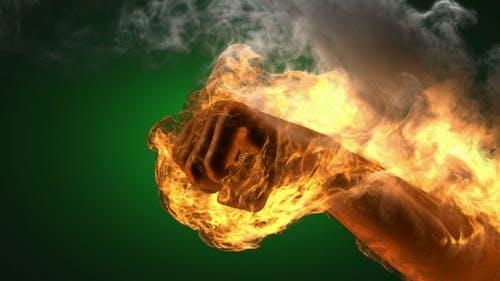 Brennende Faust