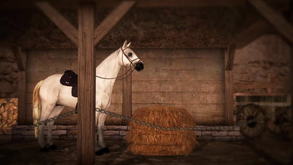 Thumbnail for Horse and Barn