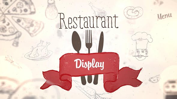 Thumbnail for Restaurant Display | After Effects Template