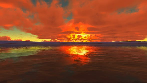 Cover Image for Cloudy Sunset At Ocean