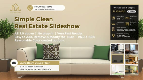 Simple Clean Real Estate Slideshow - product preview 0