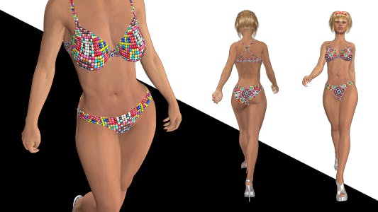 Thumbnail for Bikini Girl - Walk Cycle - Pretty Kitty - Pack of 5