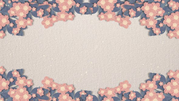 Blooming Paper Flower Background By Tykcartoon On Envato Elements