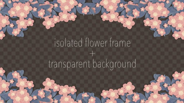 Thumbnail for Isolated Blooming Flower Frame