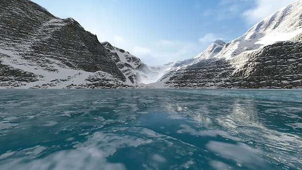 Cover Image for Flying Over Ice Lake